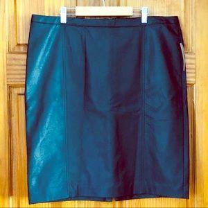 🏷Worthington Vegan Leather Skirt